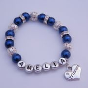 Princess Heart Personalised Bracelet - Sparkle & Bling Style